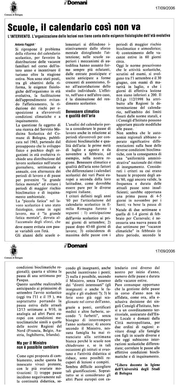 Calendario Scolastico Bologna.Faggioli Calendario Scolastico
