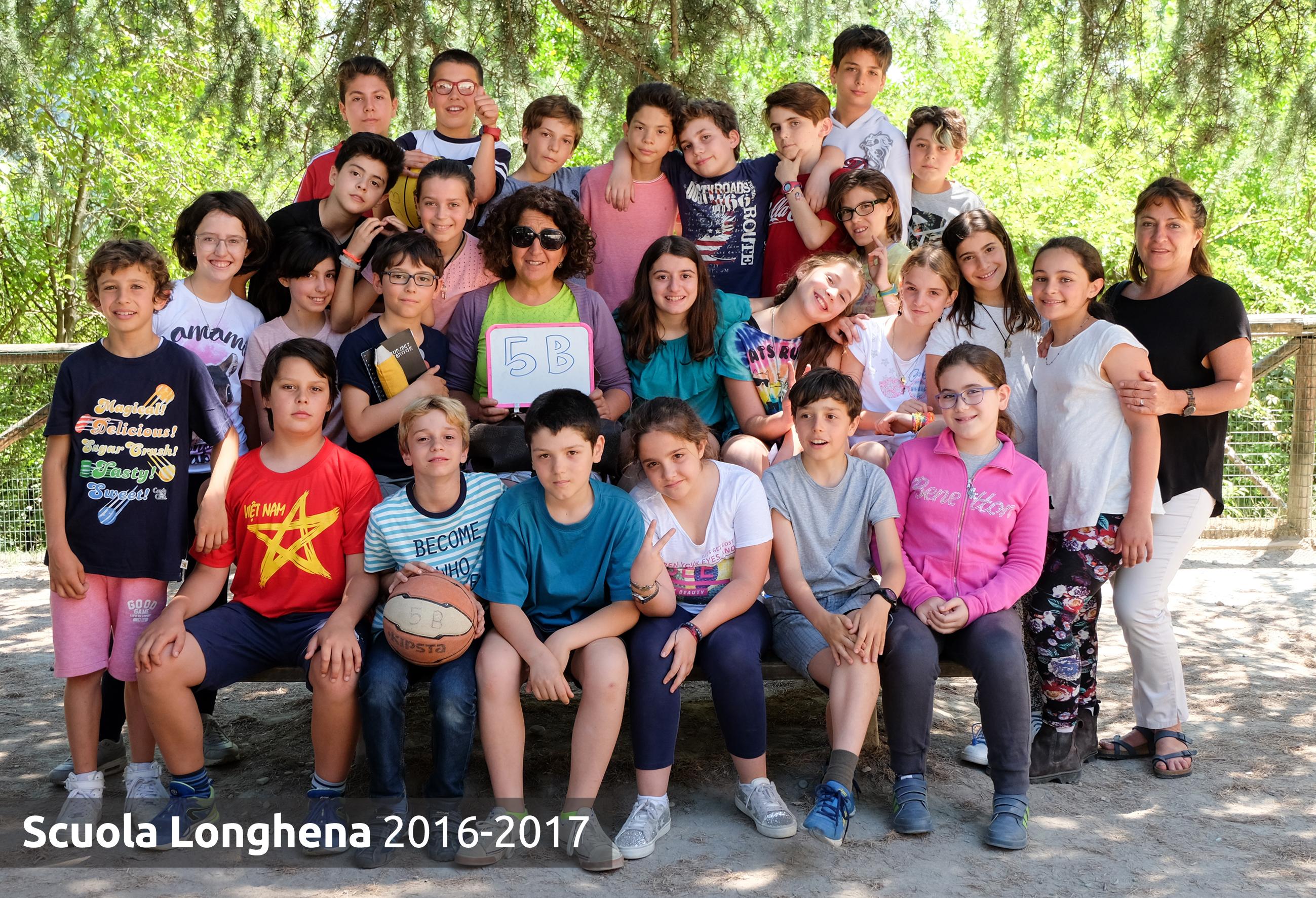 Foto di classe 2016-2017   SCUOLA PRIMARIA LONGHENA